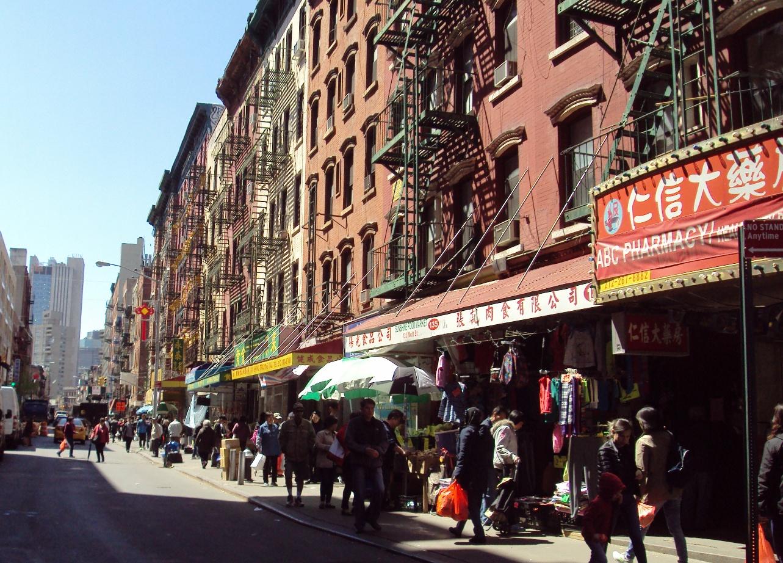 NYマンハッタンのチャイナタウン。
