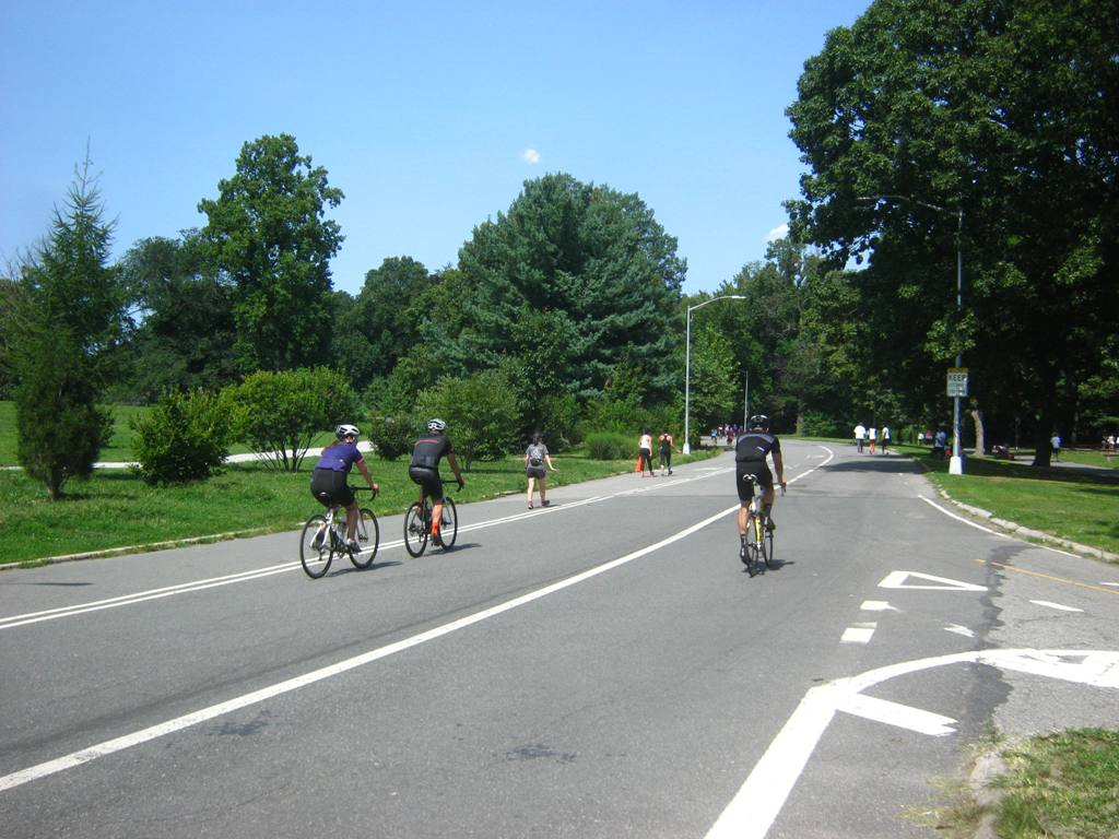 プロスペクトパークの自転車道。
