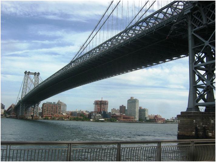マンハッタン側から見たウィリアムズバーグ橋。