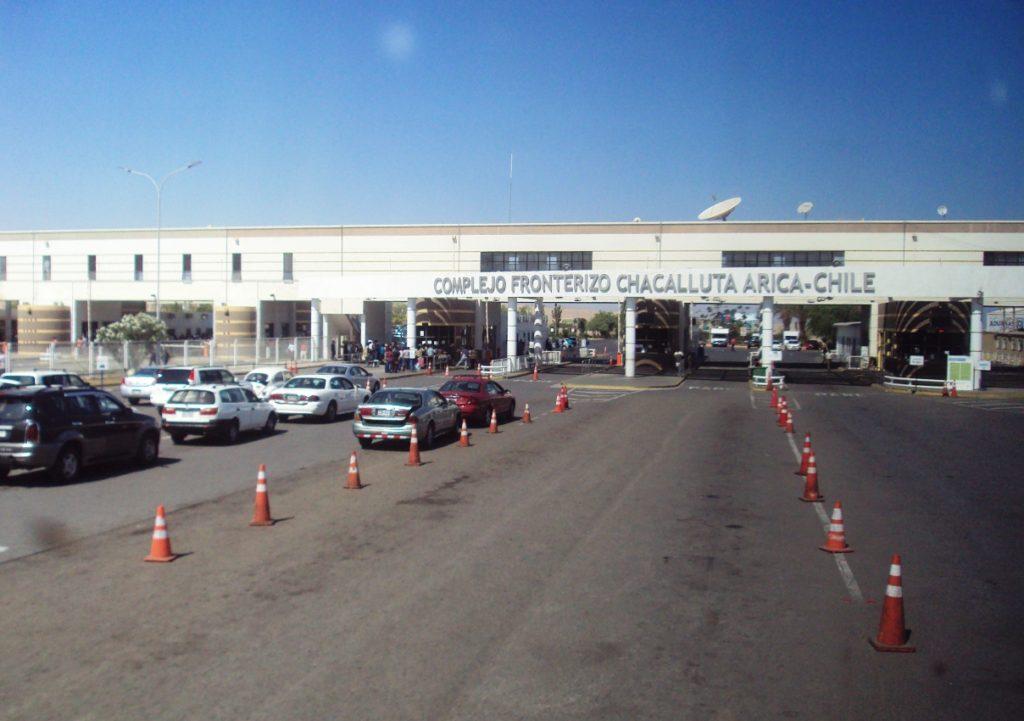 ペルーとチリの国境検問所。