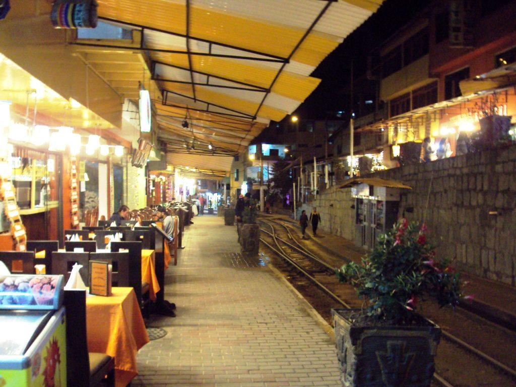 マチュピチュ村駅近くのレストラン。