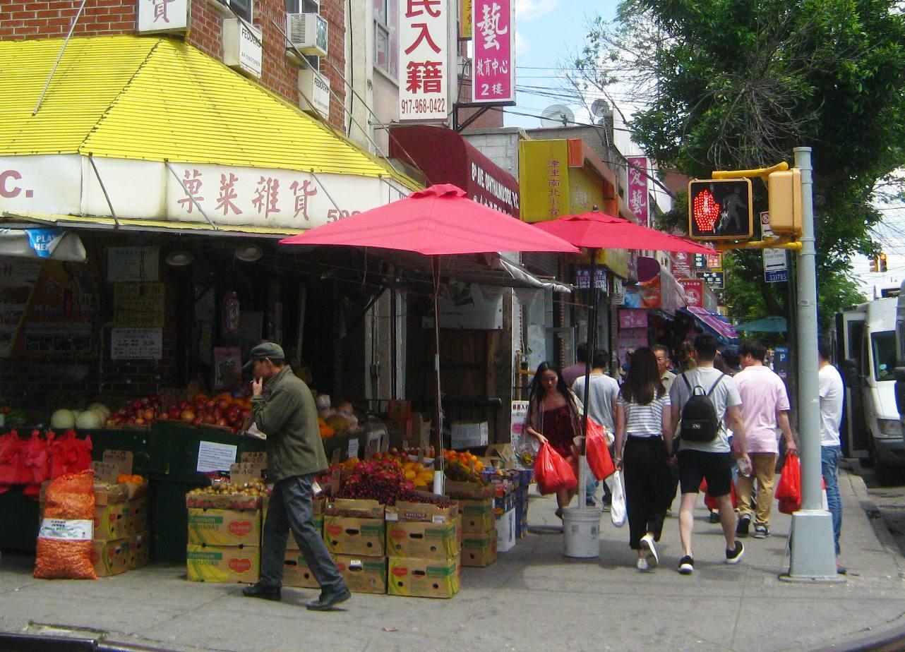 ブルックリン・中華街の八百屋さん。