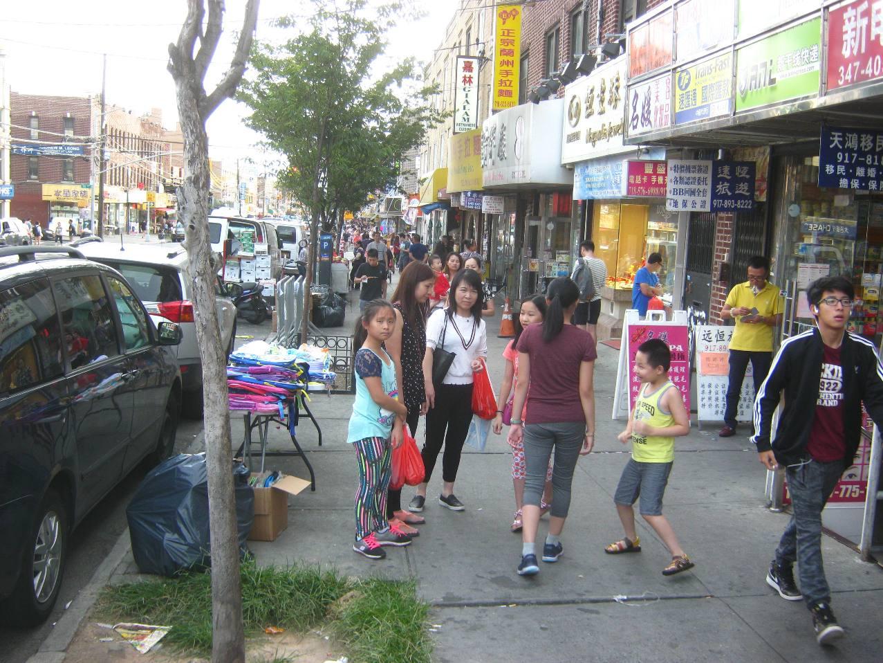 ブルックリンのチャイナタウン。