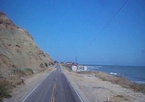 ペルー北部の乾燥した海岸部。