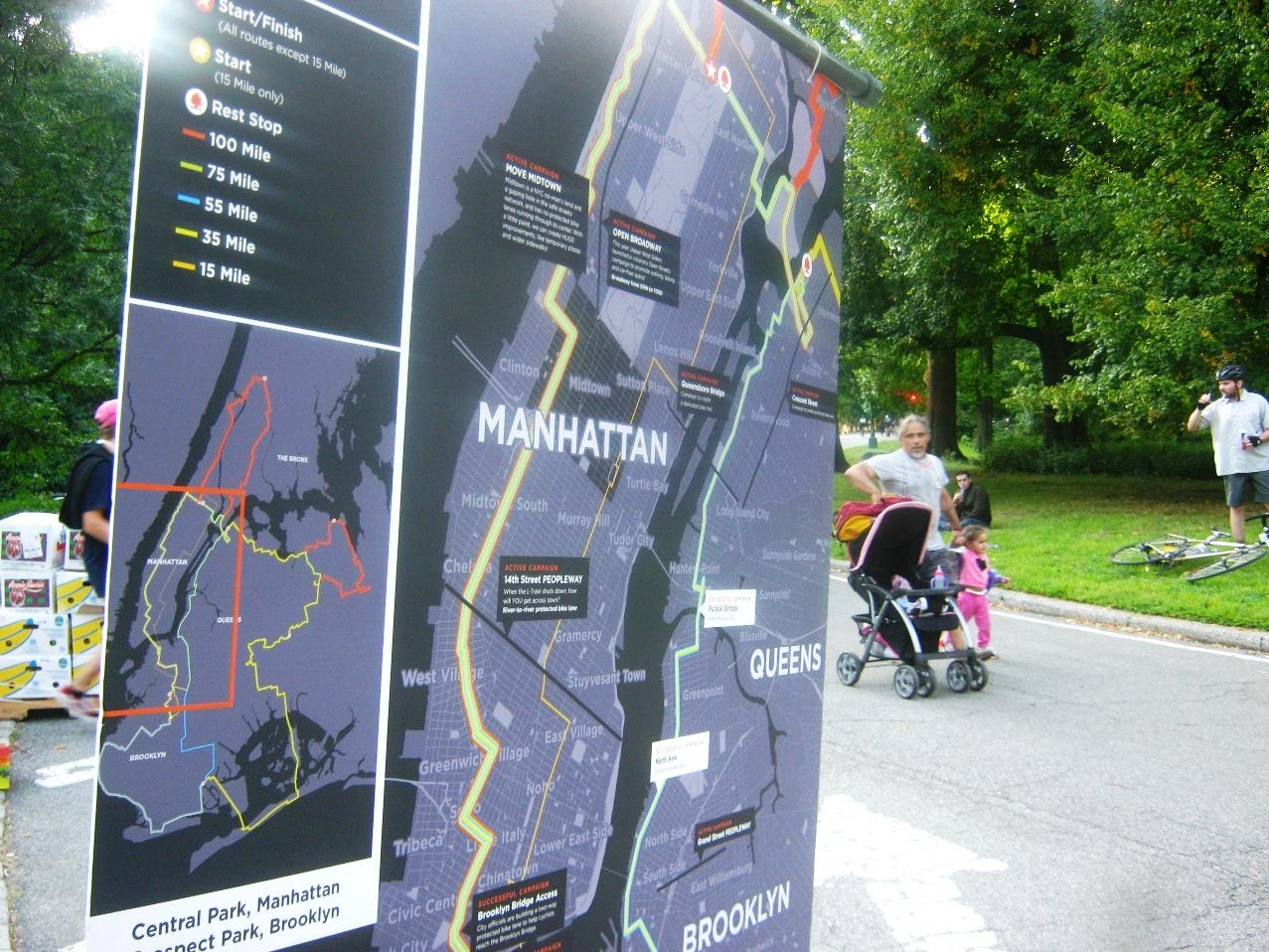 コース説明地図。