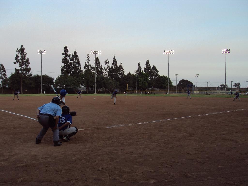 カリフォルニア州イースト・ロサンゼルスでの高校生の野球試合。