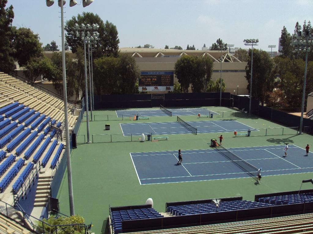 UCLAのテニスコート。
