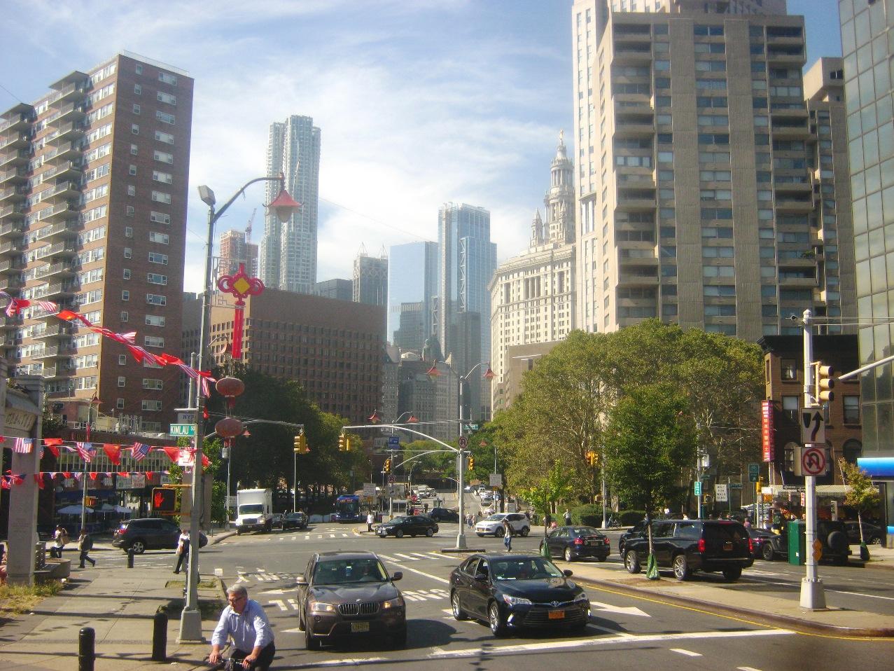 マンハッタンのビル街。
