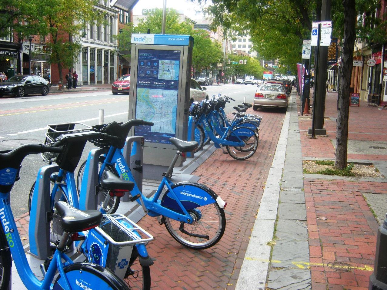 フィラデルフィアの貸自転車Indegoプログラム。
