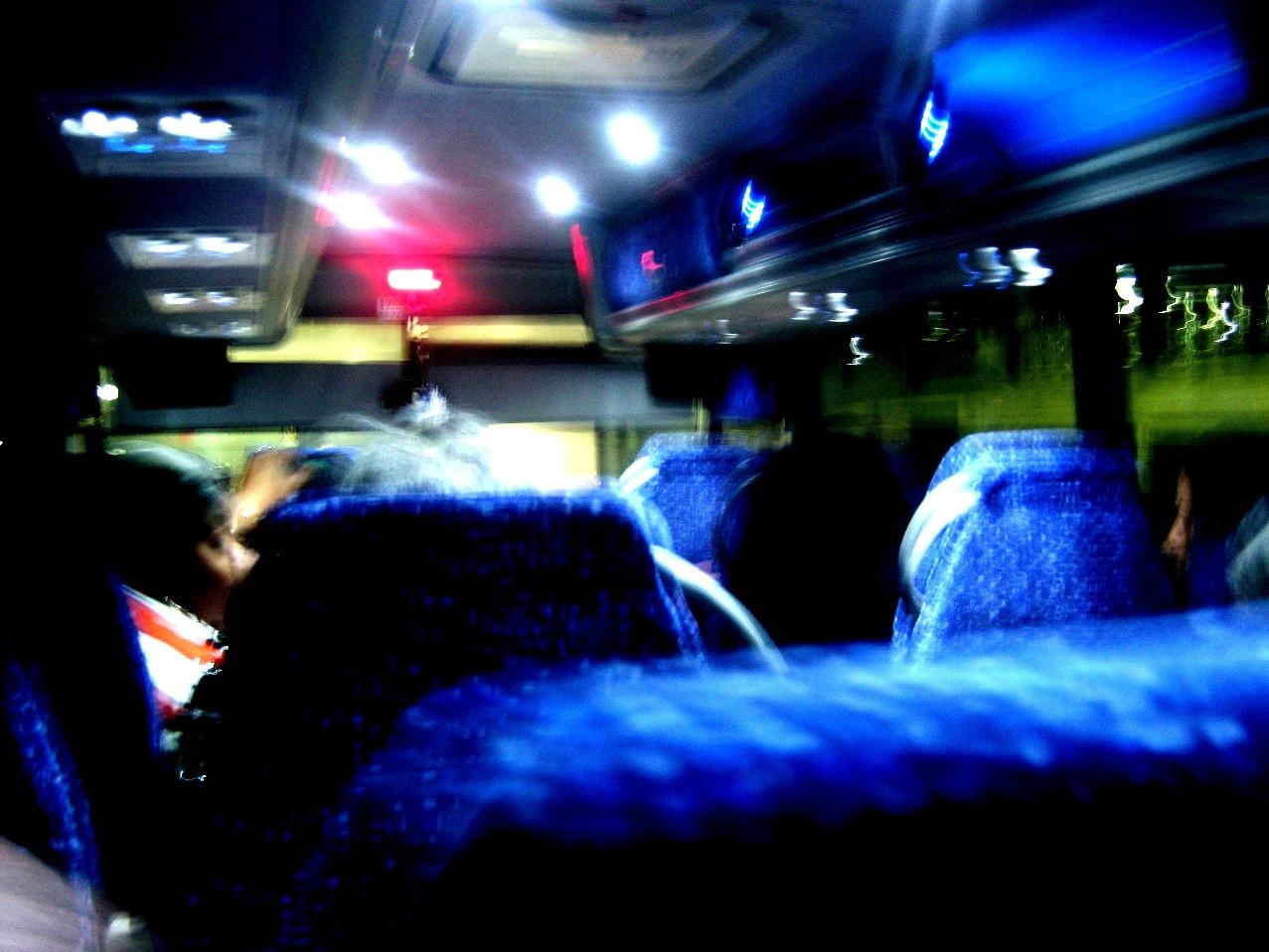 ラッキー・スターのニューヨーク行き長距離バス。
