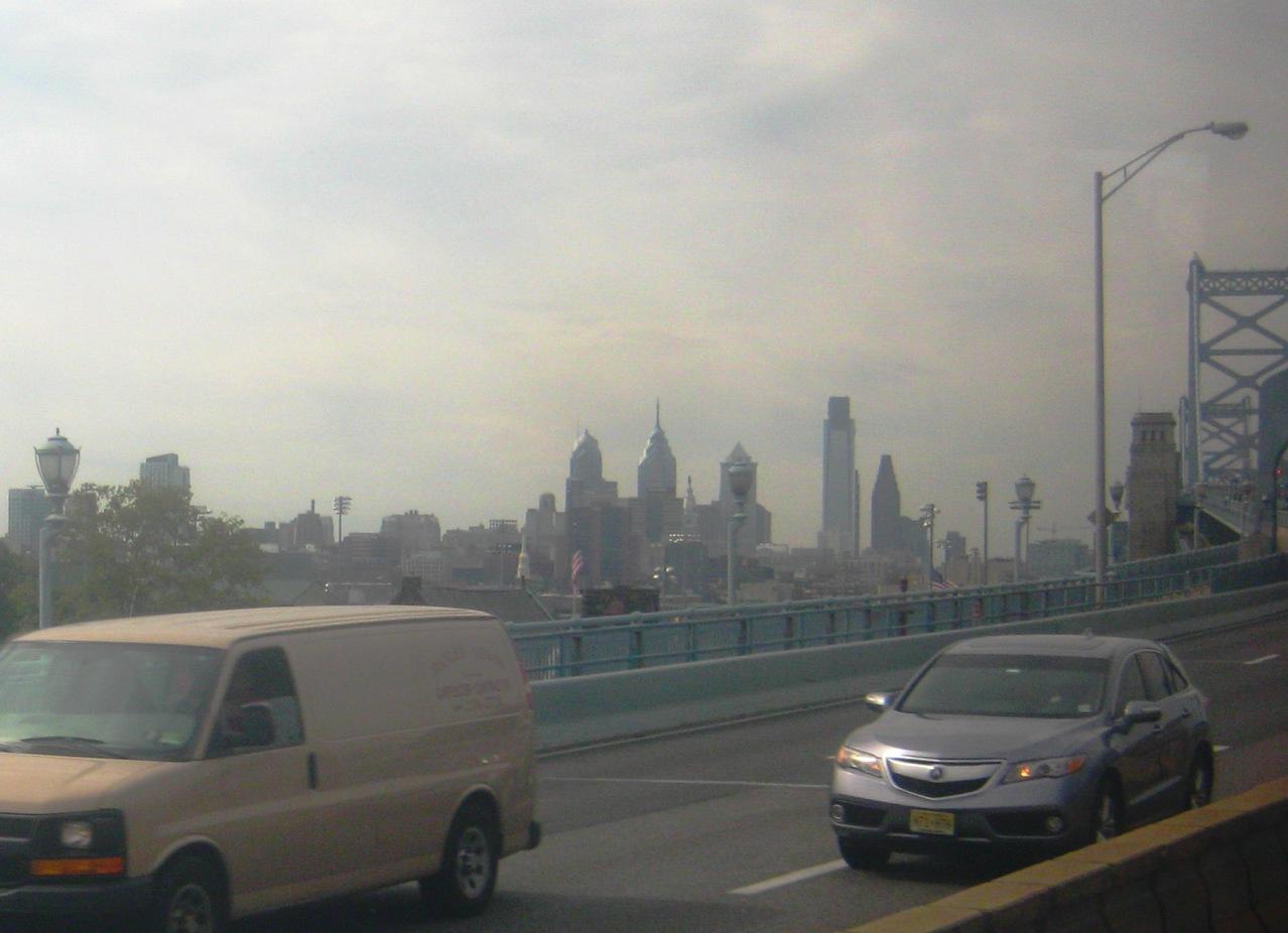 フィラデルフィアに入る橋の手前。