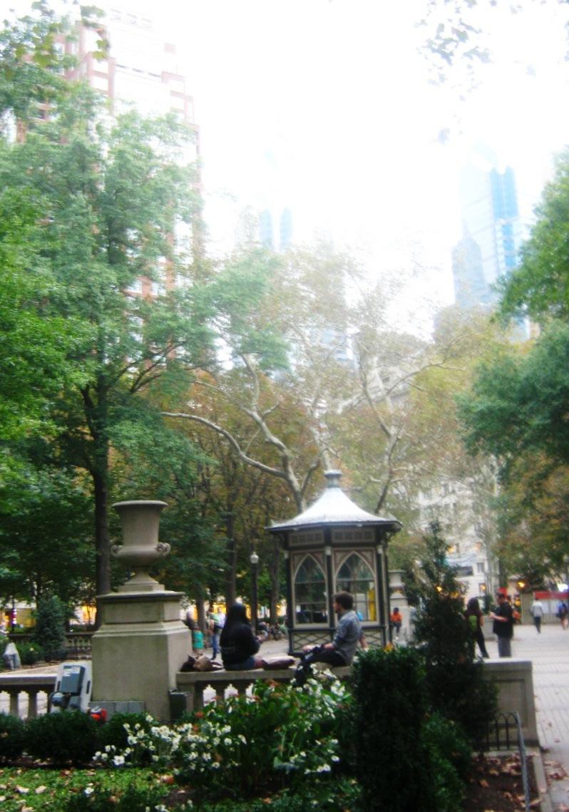 フィラデルフィアのリッテンハウス公園。