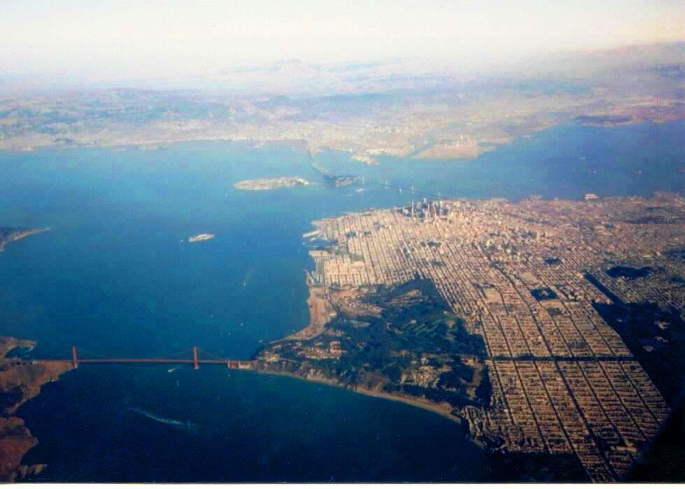 サンフランシスコ空撮。