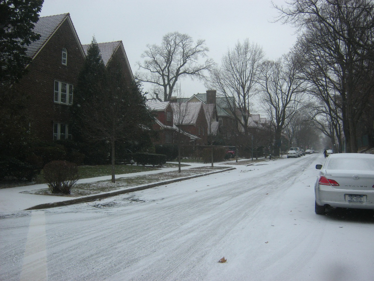 クィーンズ区フォーレストヒルズの住宅街。