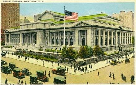 ニューヨーク公共図書館。1920年代。