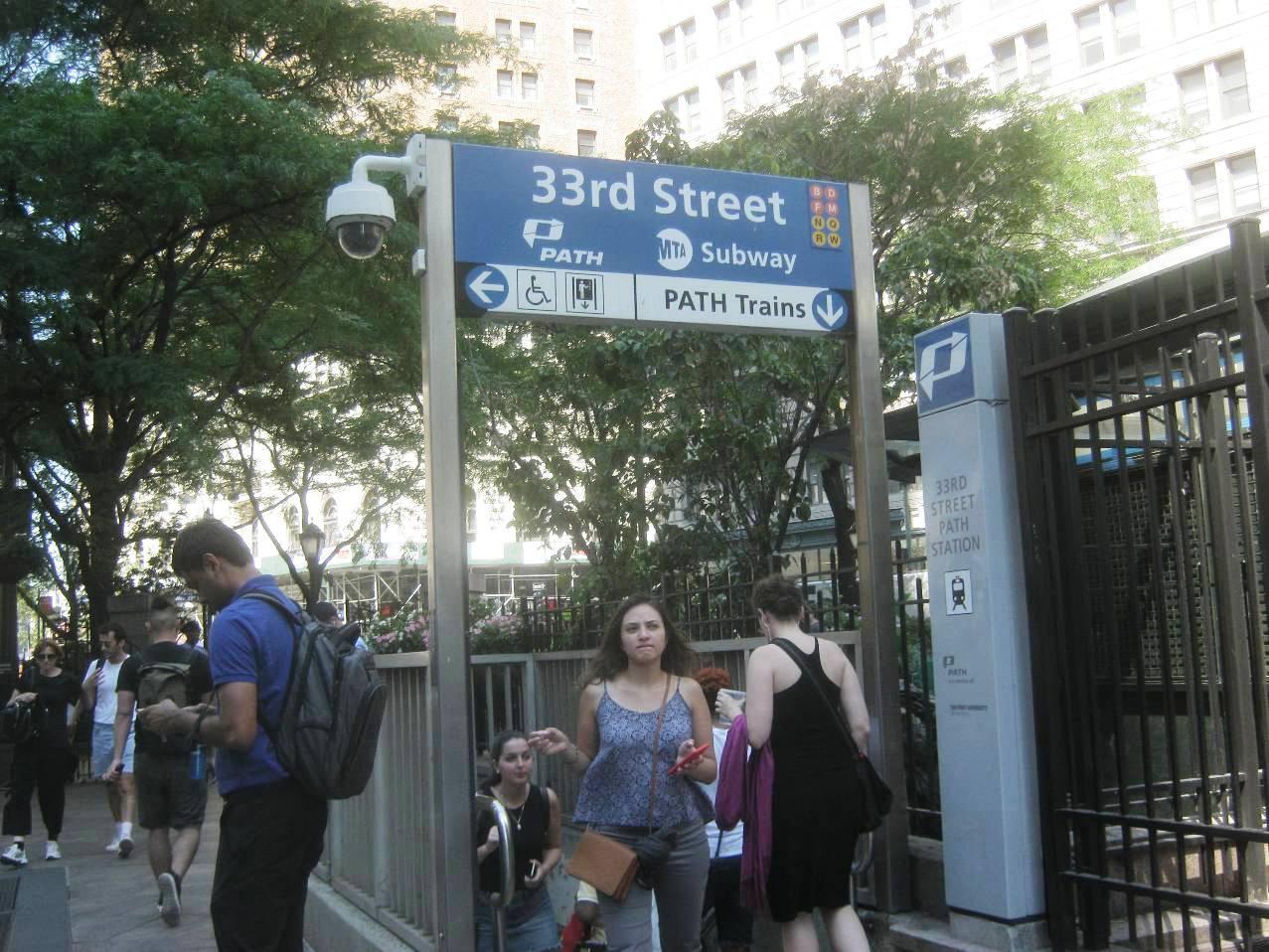 ミッドタウンの33番ストリート駅
